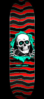 "Powell Peralta Ripper Skateboard Deck Red Shape 112 - 7.73"" x 31.26"