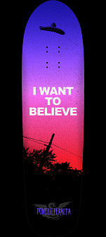 Powell Peralta Funshape Believe 4 Skateboard Deck Purple Fade - 8.6 x 31.66