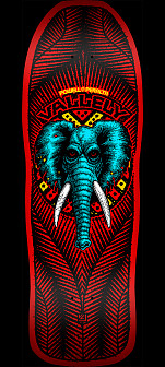 Powell Peralta Vallely Elephant Skateboard Deck RED - 10 x 30.25 - Limited to one per customer