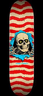 Powell Peralta Ripper Skateboard Deck Nat/Red - Shape 244 - 8.5 x 32.08