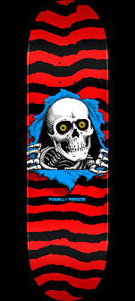 Powell Peralta Ripper Skateboard Deck Red - 8.25 x 32.5
