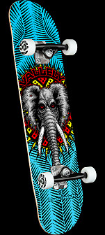 Powell Peralta Vallely Elephant Blue Birch Complete Skateboard - 8 x 31.45