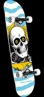 Powell Peralta Ripper One Off Lt Blue Birch Complete Skateboard - 7.5 x 30.7