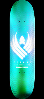 Powell Peralta Flight® Skateboard Deck Glow Turquoise - Shape 243 - 8.25 x 31.95