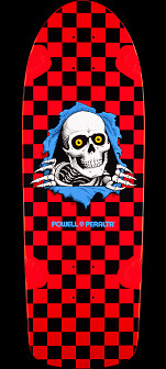Powell Peralta OG Ripper Skateboard Deck Red/Blk - 10 x 30