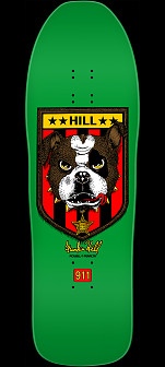 Powell Peralta Frankie Hill Bulldog Skateboard Deck Green - 10 X 31.5