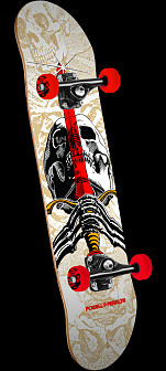 Powell Peralta Skull and Sword One Off Complete Skateboard Natural - 7.5 x 31
