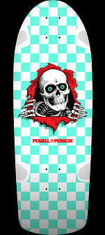 Powell Peralta OG Ripper Checker Mint Skateboard Deck - 10 x 30