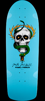 Powell Peralta McGill Skull and Snake Skateboard Deck Light Blue - 10 x 30.125