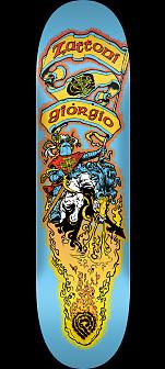 Powell Peralta Pro Giorgio Zattoni Crusader Skateboard Deck - Shape 247 - 8 x 31.45