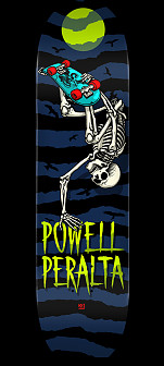 Powell Peralta Handplant Skelly Skateboard Deck Navy Shape 247 K20 - 8 x 31.45
