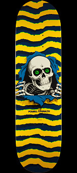 Powell Peralta Ripper Skateboard Deck Yellow - Shape 247 - 8 x 31.45