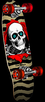 Powell Peralta Micro Mini Ripper Gold Complete Skateboard - 7.5 x 24