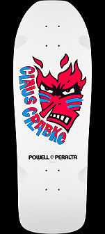 Powell Peralta Claus Grabke Skateboard Deck White - Shape 287 SP0 - 10.25 x 30.5