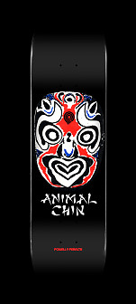 Powell Peralta Chin Mask Skateboard Deck Black - 8.5 x 33.5