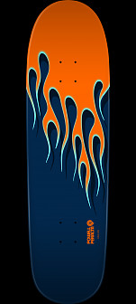 Powell Peralta NITRO Hot Rod Flames Skateboard Deck Orange/Blue - 9.33 X 33.25