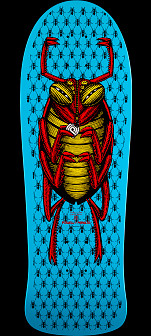 Powell Peralta Bug 2 Skateboard Deck Blue - 9.85 x 29.6