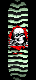 Powell Peralta Ripper Skateboard Deck Pastel Green - Shape 248 - 8.25 x 31.95
