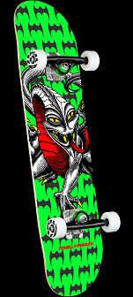 Powell Peralta Cab Dragon One Off Lime Green Birch Complete Skateboard - 7.5 x 28.65