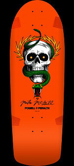 Powell Peralta McGill Skull and Snake Skateboard Deck Orange - 10 x 30.125