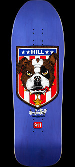 Powell Peralta Frankie Hill Bulldog Skateboard Deck Purple - 10 x 31.5
