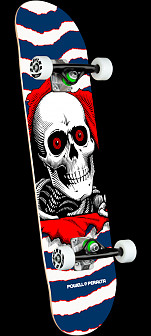 Powell Peralta Ripper One Off Navy Birch Complete Skateboard - 7.75 x 31.08