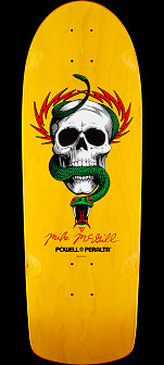 Powell Peralta Mike McGill Skull and Snake Skateboard Deck Yellow - 10 x 31.125