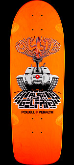 Powell Peralta Gelfand Ollie Tank Skateboard Deck Orange - 10 x 30