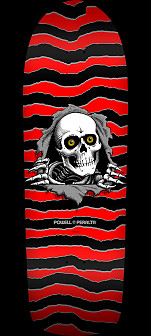Powell Peralta Ripper Skateboard Deck Red/Black - 10 x 31.75