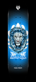 Powell Peralta Pro Salman Agah Lion 3 Flight® Skateboard Deck - Shape 245 - 8.75 x 32.95