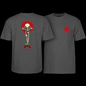 Powell Peralta Tucking Skeleton T-shirt Charcoal