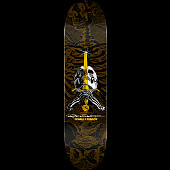 Powell Peralta Skull & Sword Blem Skateboard Deck Brown 246 K20 - 9 x 32.95
