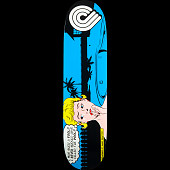 Powell Peralta Pop Art Skateboard Deck Blue - 8 x 31.25