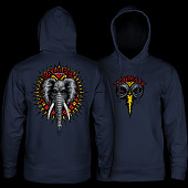 Powell Peralta Mike Vallely Elephant Mid Weight Hooded Sweatshirt - Navy