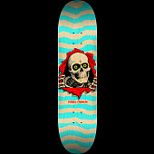 Powell Peralta Ripper Skateboard Deck Nat/Turq - Shape 242 - 8 x 31.45