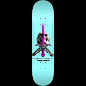 Powell Peralta Skull and Sword Skateboard Deck Pastel Blue - 9 x 32.95