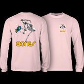 Powell Peralta Skateboarding Skeleton T-shirt Lt. Pink