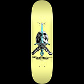 Powell Peralta Skull and Sword Skateboard Deck Pastel Yellow 243 K20 - 8.25 x 31.95