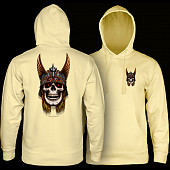Powell Peralta Anderson Skull Hooded Sweathshirt Light Yellow