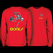 Powell Peralta Skateboard Skeleton Midweight Crewneck Sweatshirt - Red