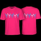 Powell Peralta Vato Rat Band Tishirt Hot Pink