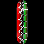 Powell Peralta Vato Rat Band Skateboard Deck Red/Green - Shape 248 - 8.25 x 31.95