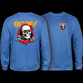 Powell Peralta Ripper Crew SweatShirt Mid Weight Royal Heather