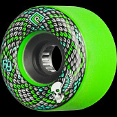 Powell Peralta Snakes Skateboard Wheels 69mm 75a 4pk Green