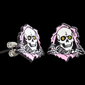 Powell Peralta Ripper Earrings Pink