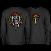 Powell Peralta Mike Vallely Elephant Crew Sweat Shirt Mid Weight Black