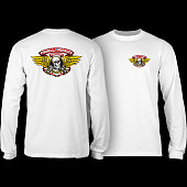 Powell Peralta Winged Ripper L/S T-shirt - White
