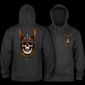 Powell Peralta Anderson Sweatshirt Hooded Mid Weight Charcoal Heather