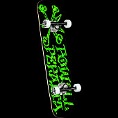 Powell Peralta Vato Rats Leaves Black Birch Complete Skateboard - 7.5 x 28.65
