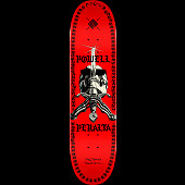 Powell Peralta Skull And Sword Chainz Skateboard Deck Red - 8 x 31.45